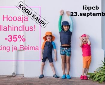 KUNI 23.09, KÕIK VIKING JA REIMA TOOTED -35%